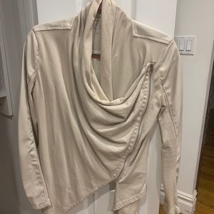 Blank NYC Drape Front Natural Leather Jacket